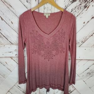 Live and let live Embellished Henley sz L